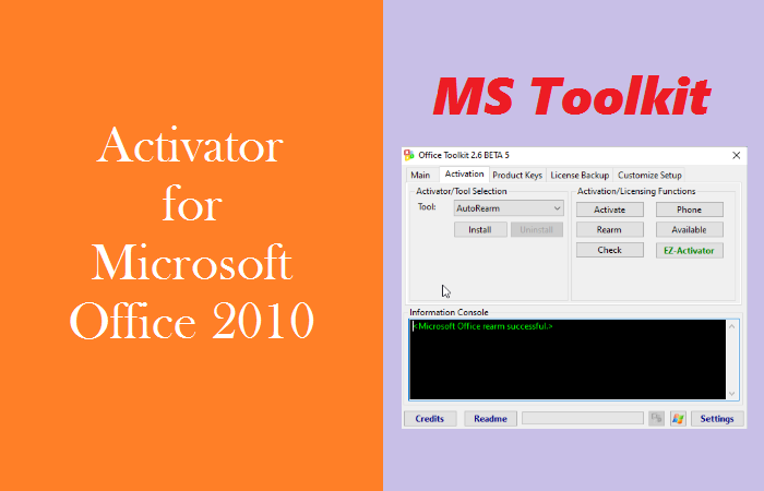 The Best Activator for Microsoft Office 2010 - Microsoft Toolkit