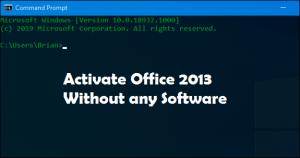 Office 2013 Activation without any Software