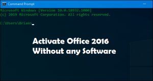 Office 2016 Activation without any Software