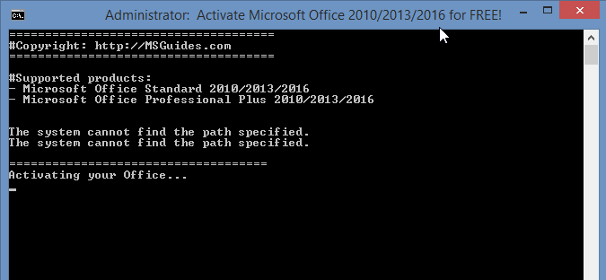 Activate Ms Office 2013 Without Any Software Using Cmd